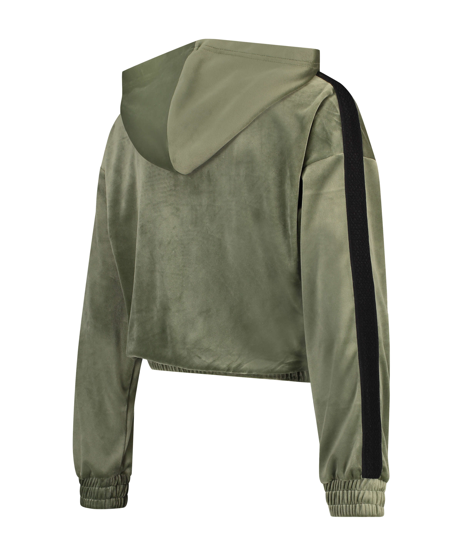 HKMX Sportjacka Velour, grön, main