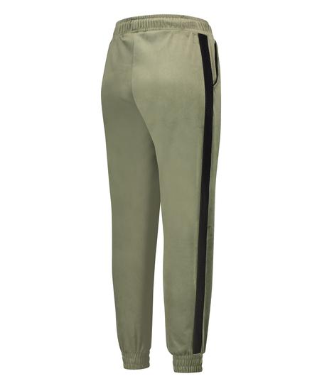 Malila HKMX joggingbyxor med hög midjga i velours, grön