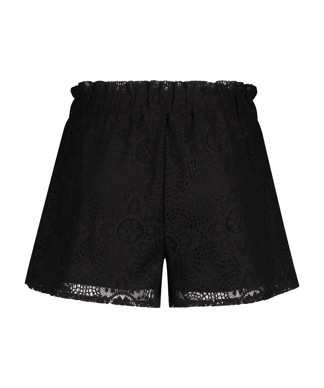 Lace shorts, Svart, main
