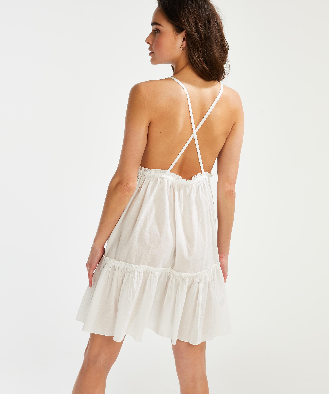 Strandklänning Tiered, Vit, main