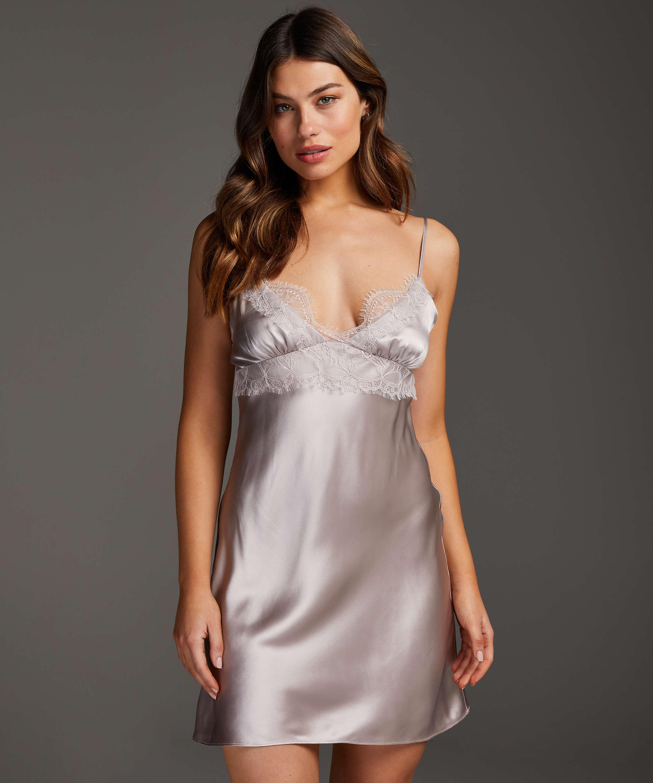 Underklänning i siden och spets, Rosa, main