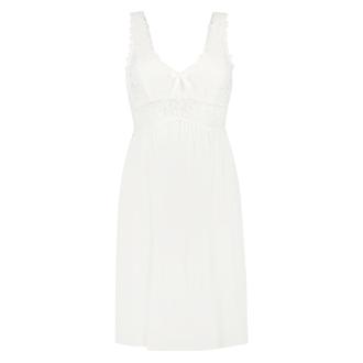 Nora Lace slipklänning, Vit