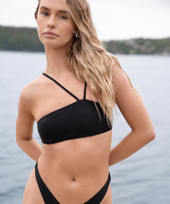 Bandeau-bikinitopp HKM x NA-KD, Svart