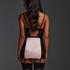 Amelia vadderad pådragbar klänning med bygel , Svart