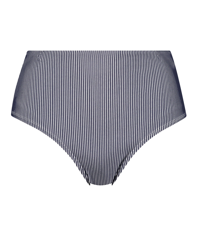 Ruffle djärvt skuren bikiniunderdel, blå, main