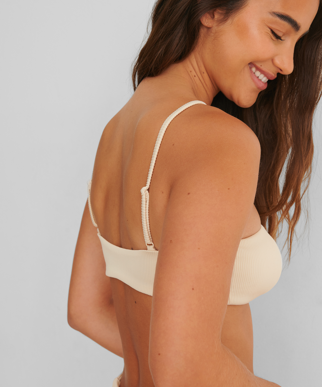 Bikini crop top Texture HKM x NA-KD, Vit, main