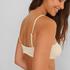Bikini crop top Texture HKM x NA-KD, Vit