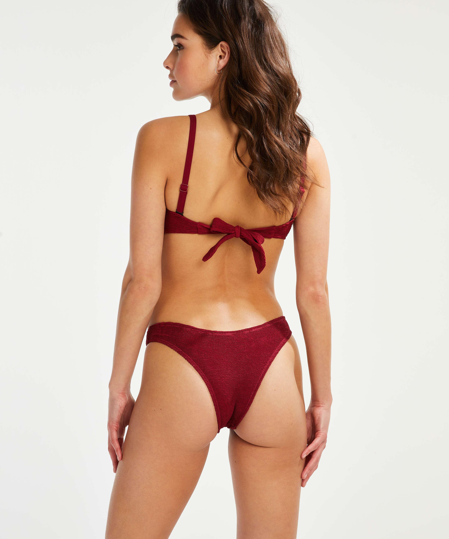 Indio Hills formpressad bandeau-bikinitopp, röd, main