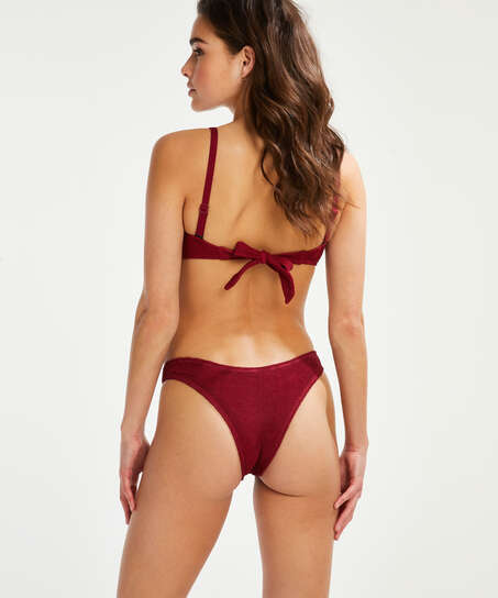 Indio Hills formpressad bandeau-bikinitopp, röd