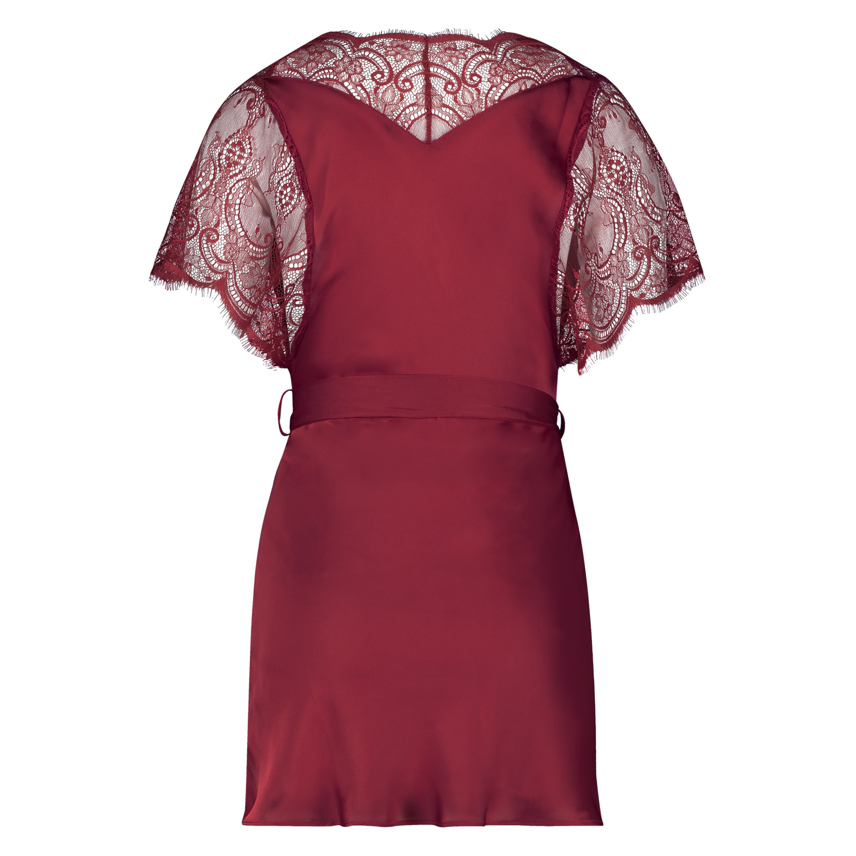 Kimono Cap Sleeve, röd, main