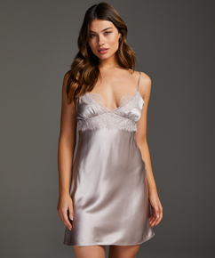 Underklänning i siden och spets, Rosa