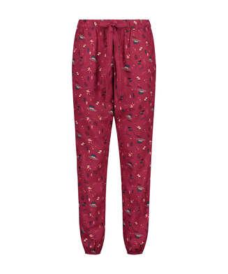 Pyjamasbyxa Twill, röd