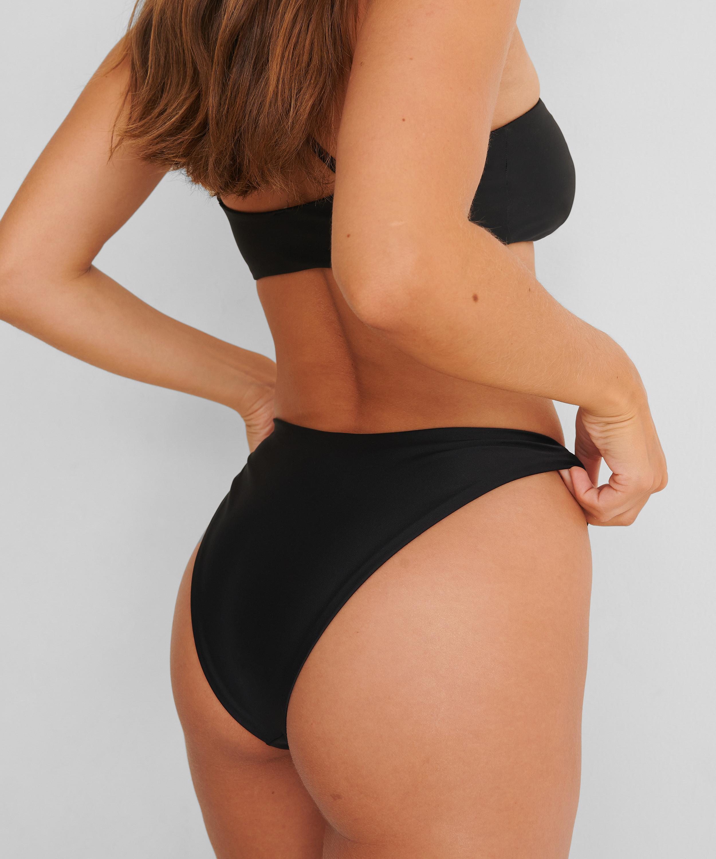 Högt skuren Rio-bikiniunderdel HKM x NA-KD, Svart, main