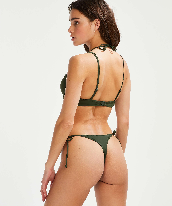Luxe string-bikinishorts, grön, main