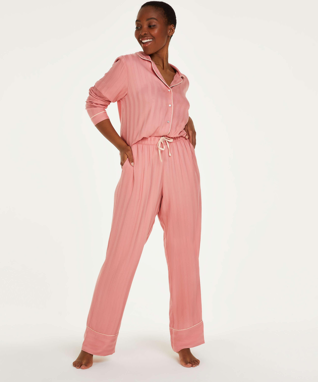 Petite Stickade pyjamasbyxor, Rosa, main