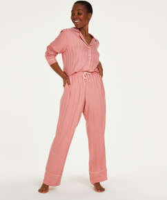 Petite Stickade pyjamasbyxor, Rosa