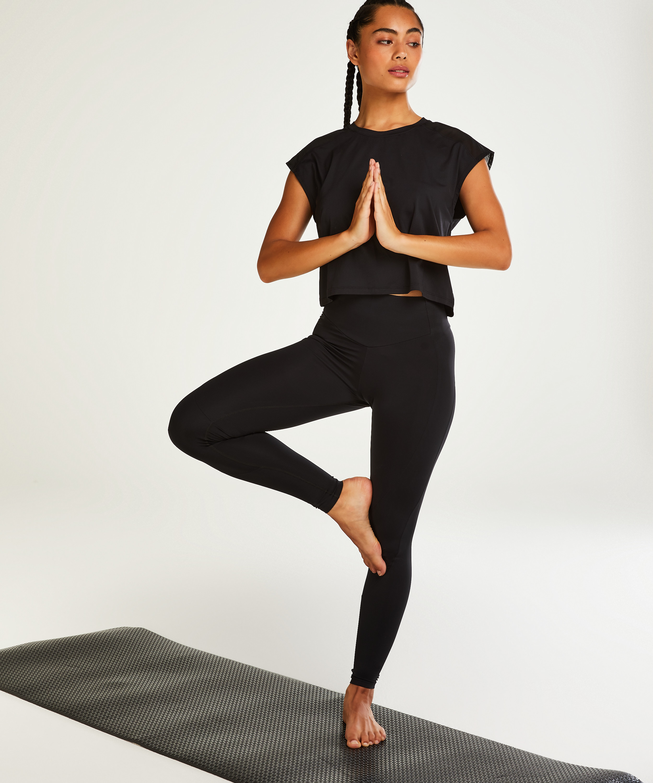 HKMX Make Me Zen sportleggings med hög midja, Svart, main