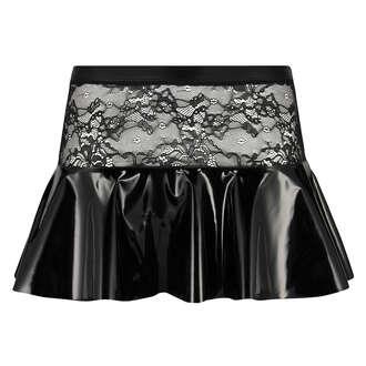 Private peplum-kjol, Svart