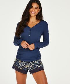 Jersey shorts, blå