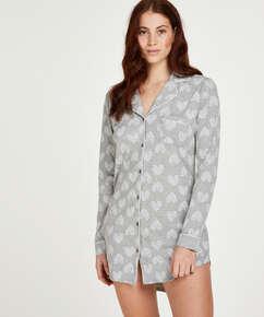 Pyjamastopp med hjärta, Grå