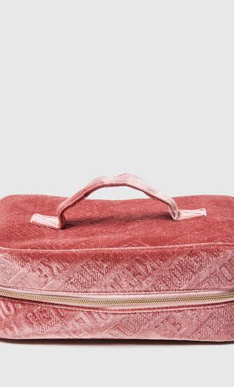 Makeup-väska präglad, grön