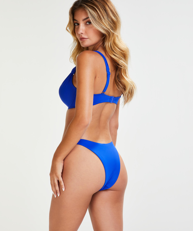 Luxe formpressad bikiniöverdel med bygel Storlek E +, blå, main