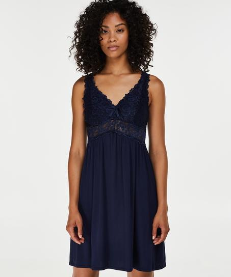 Underklänning Modal Lace, blå