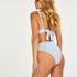 Scallop triangel-bikiniöverdel, blå