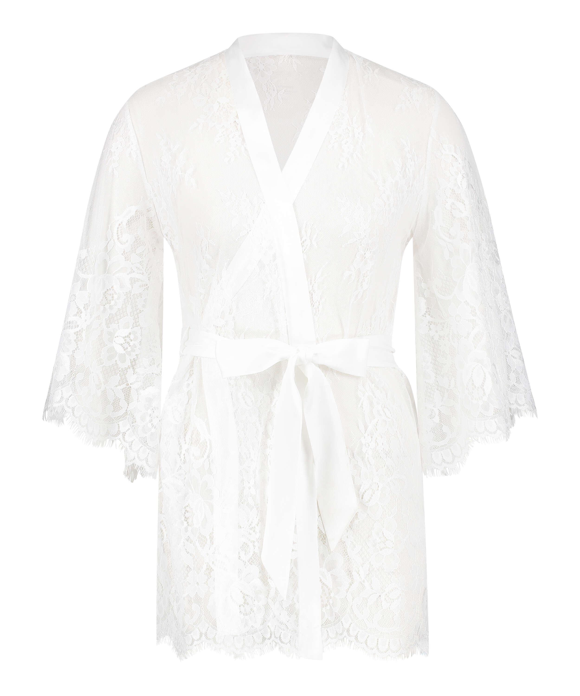 Kimono Lace Isabelle, Vit, main