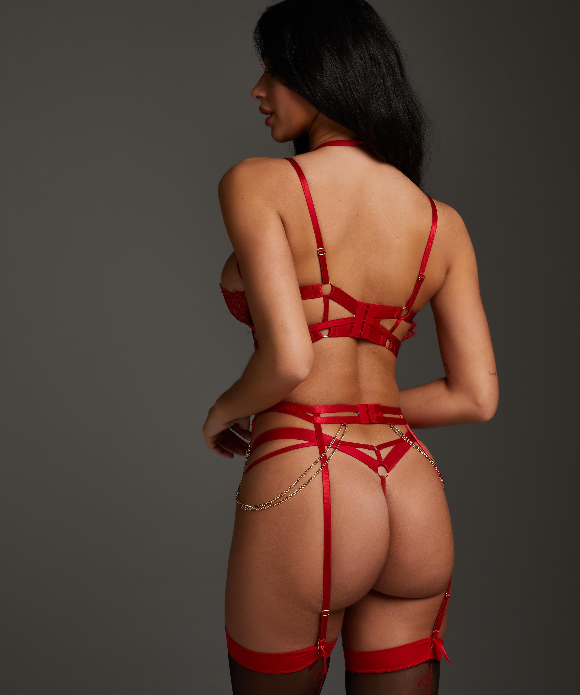 Strumpebandshållare med hjärta, röd, main