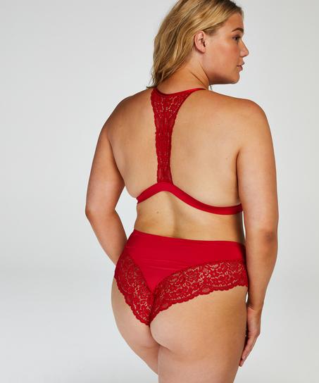 Vadderad triangel-bralette Rose, röd