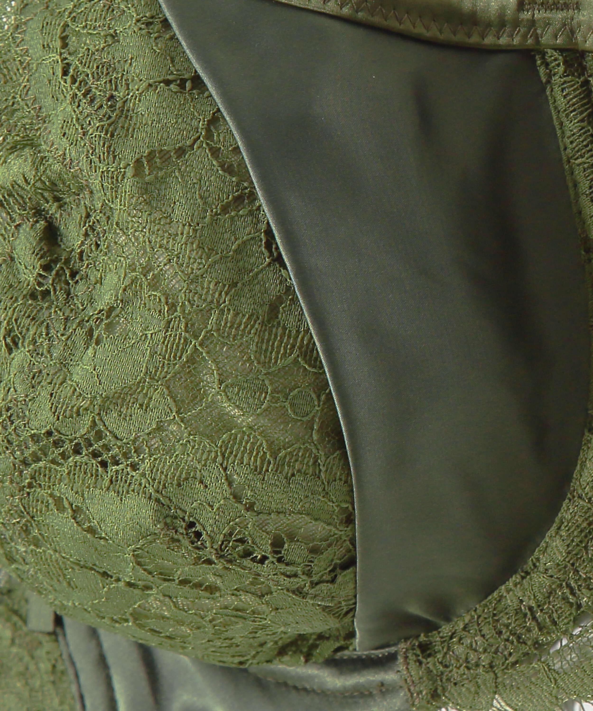 Hannako icke-vadderad bygelbehå, grön, main