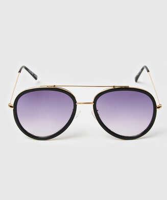 Aviator solglasögon, Svart