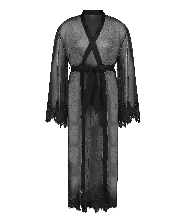 Lång Cravache Kimono, Svart, main