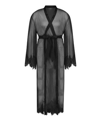 Lång Cravache Kimono, Svart