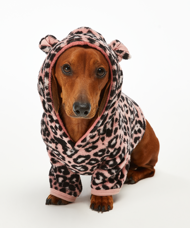 Onsie i fleece för hundar, Rosa, main