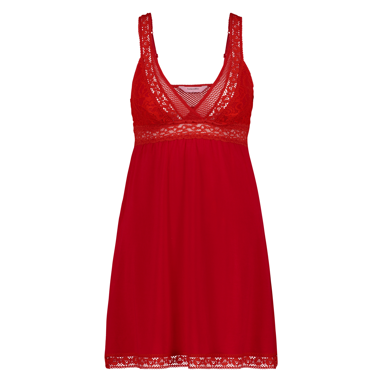 Underklänning Graphic Lace, röd, main
