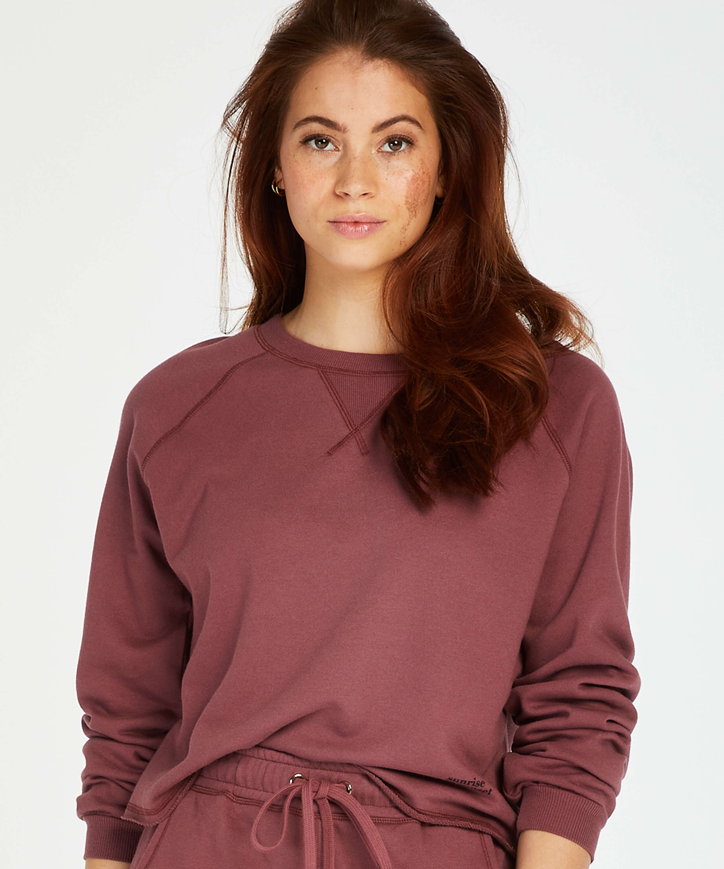 Sweat French Long-Sleeved Top, Rosa, main