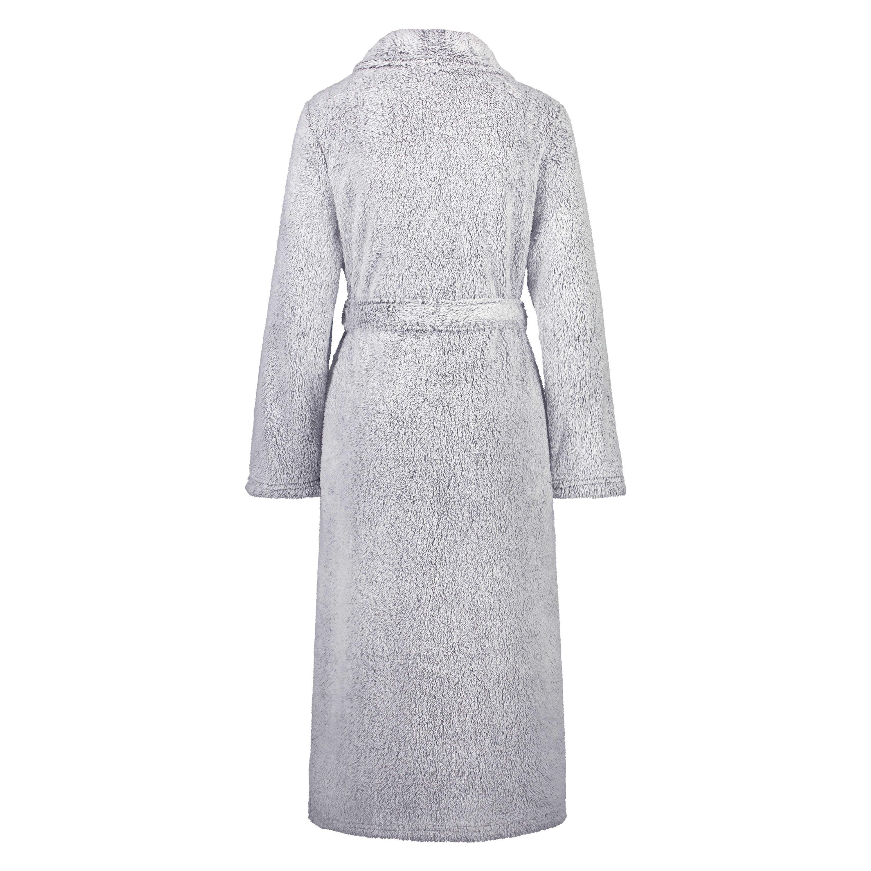 Lång morgonrock Fleece, Grå, main