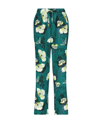 Stickade pyjamasbyxor, Grå