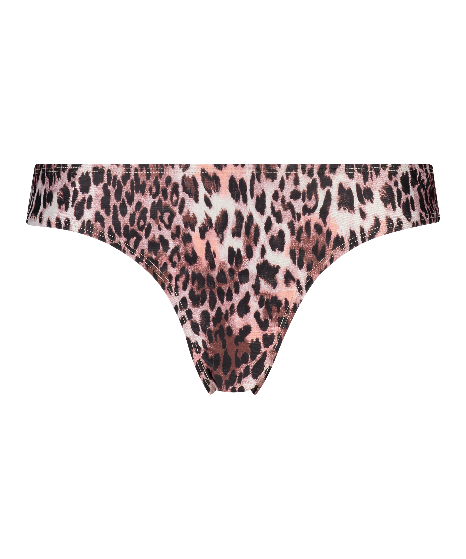 Leopard Rio bikiniunderdel, Svart, main