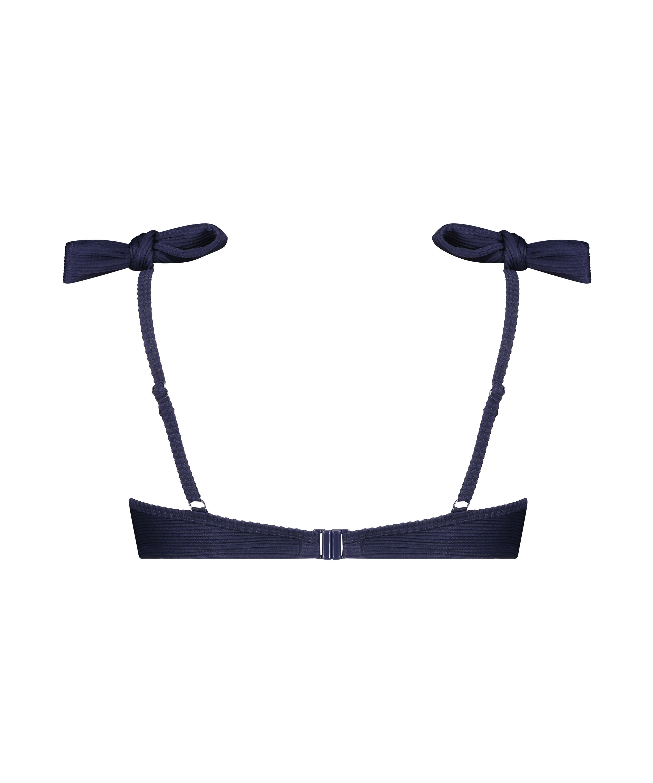 Harper formpressad bikiniöverdel med bygel, blå, main