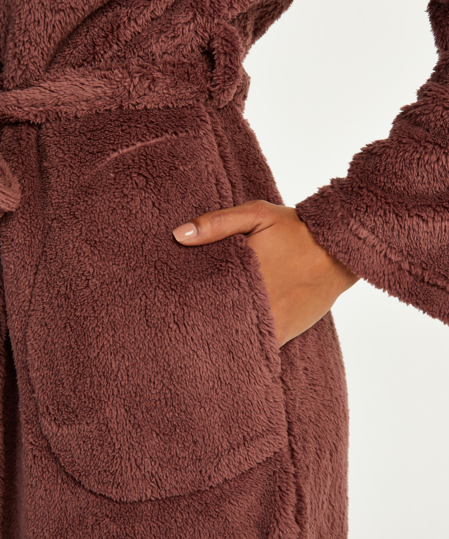 Lång morgonrock Fleece, Rosa, main