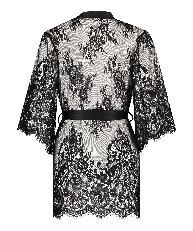 Kimono Lace Isabelle, Svart, main