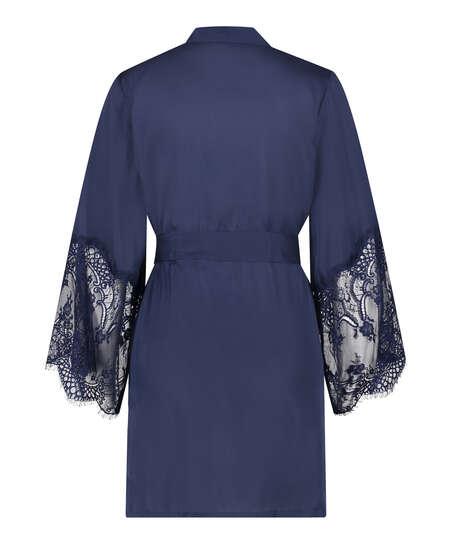 Kimono Satin, blå
