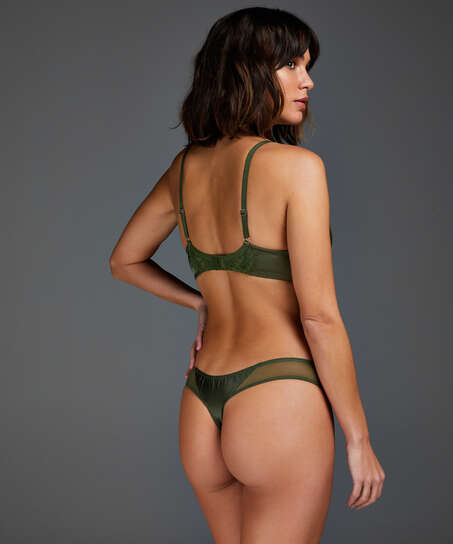 Hannako icke-vadderad bygelbehå, grön