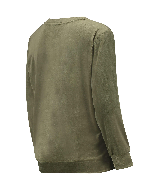 Mammatop i sammets, grön, main