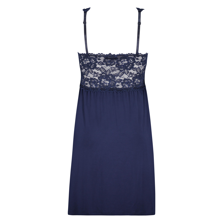 Nora Lace slipklänning, blå, main