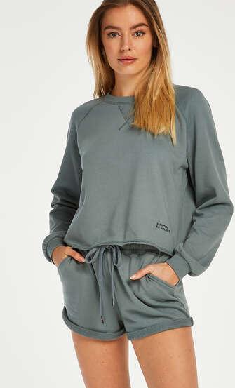 Sweat French Shorts, grön