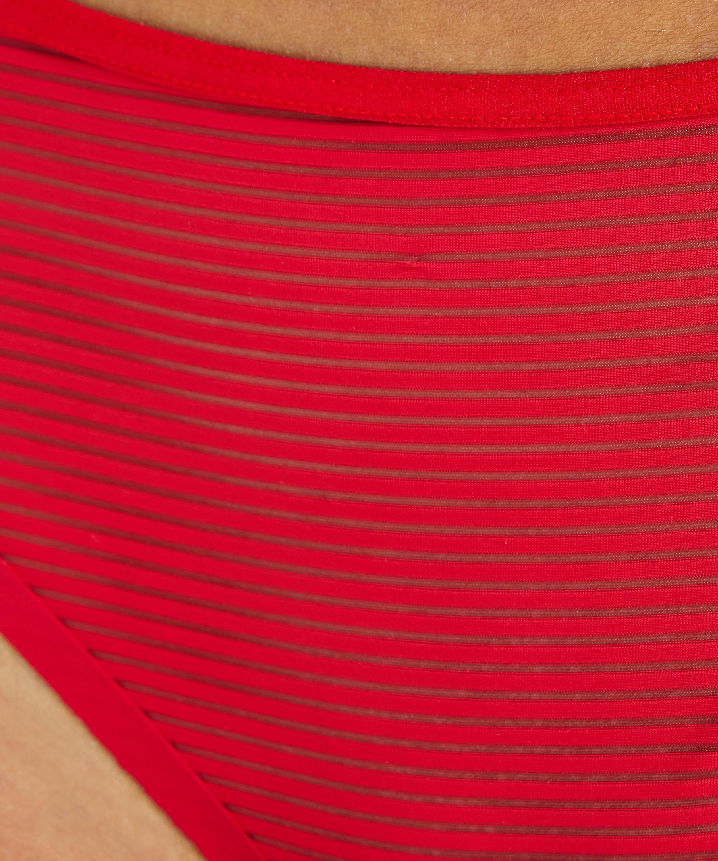 Stringtrosa Invisible Stripe Mesh, röd, main